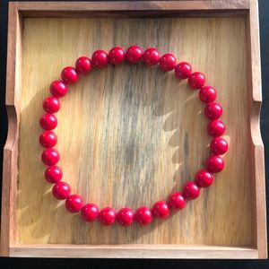 Jewelry - Red Bead Choker